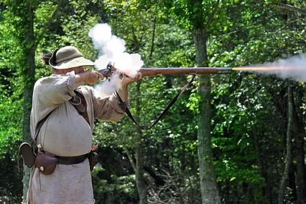 Militiaman Firing Musket