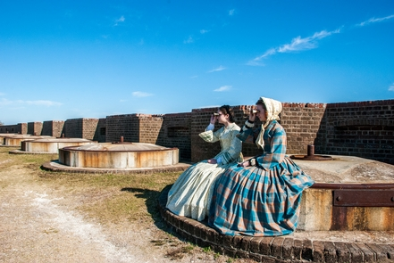 The Ladies of a FortVolunteer living historians play an important role for the National Park Service and Fort Pulaski National Monument.