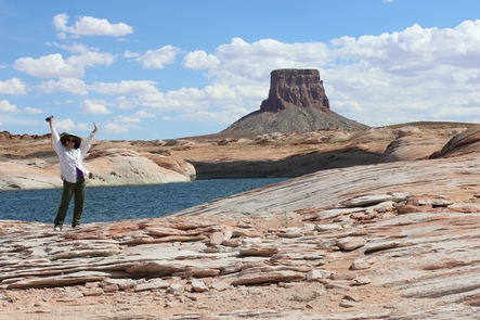 Enjoy Lake PowellSpending time on Lake Powell near Tower Butte can make anyone excited.