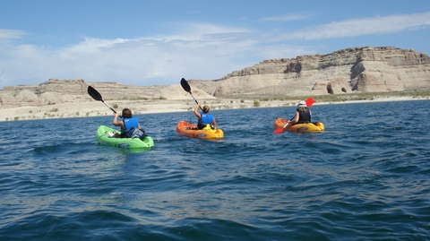 So Many Ways to Find Your ParkIf motorized recreation isn't your thing, take a kayak and paddle through the high side canyons of Lake Powell.