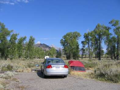 Gros Ventre Campground Tent CampsiteTents are welcome at the Gros Ventre Campground