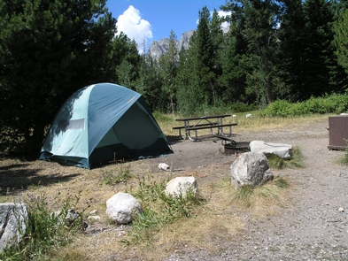 Jenny Lake Campground Tents OnlyOnly tents are allowed at the Jenny Lake Campground.