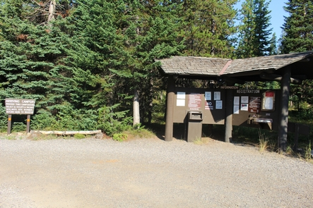Lizard Creek Campground KioskBoth tent campers and small RVs are welcome.