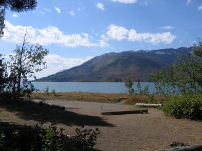 Jackson Lake from the Lizard Creek CampgroundEnjoy camping near Jackson Lake.