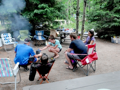 Campers at Lizard CreekCampers enjoying their campfire.