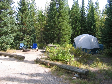 Colter Bay Campground Tent SifeThe campground has sites for both tents and RVs.