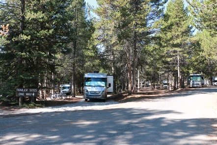 Colter Bay RV Park CampsitesThe Colter Bay RV park offers full hookups in a park setting.