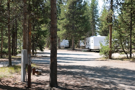 Campsites at Headwaters CampgroundThe Headwaters Campground has full hookups and tent sites.
