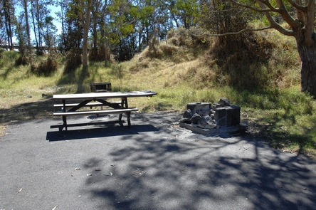N?makanipaio CampsiteCampsite with picnic table and firepit