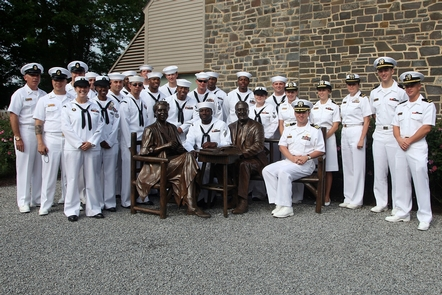 Memorial Day at the Home of Franklin D. RooseveltThe Crew of the USS Roosevelt with Eleanor and Franklin