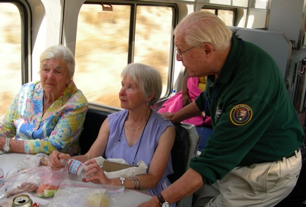 Trails & RailsAnza Trail volunteers ride the Amtrak Coast Starlight to share about California's landscape and history.