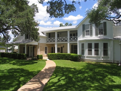 """Texas White HouseBecause President Johnson spent one-fourth of his term a president in Texas, the press referred to this home as the """"Texas White House"""""""