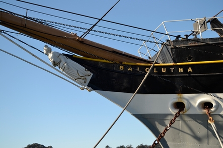 Balclutha's Bowsprit and Figurehead