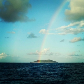End of the rainbowBuck Island is a magical place! Come snorkel the waters and hike the trails.