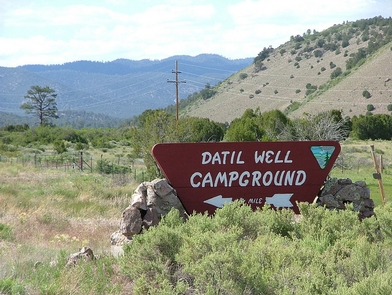 Datil Well Campground SignDatil Well Campground entrance sign.