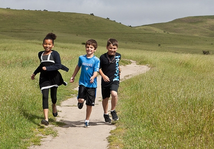 Outdoor ClassroomElementary school hildren run, play, and learn at the Fort Ord National Monument.