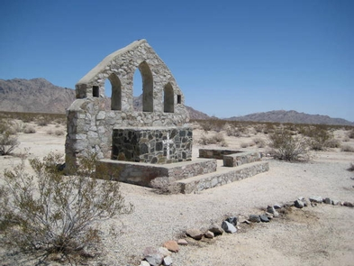 Catholic Chapel at Camp Iron MountainA stone altar built in the wide open area of Camp Iron Mountain.