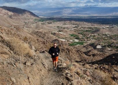 Trails in the MonumentA runner enjoys the solitude of the trails in the Monument.