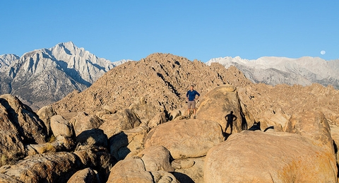 Alabama HillsThe Alabama Hills are uniquely weathered granitic boulders at the foot of the High Sierra's near Mount Whitney.