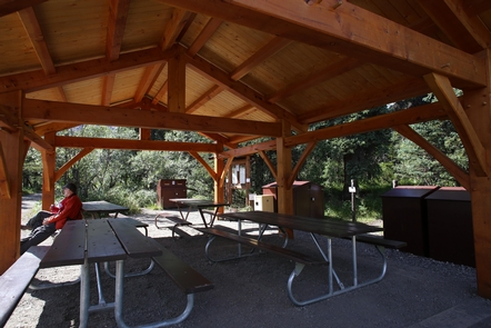 Covered ShelterA covered eating area is available at Igloo Creek Campground
