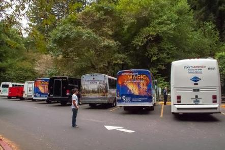 Commercial Carrier Parking at Muir Woods