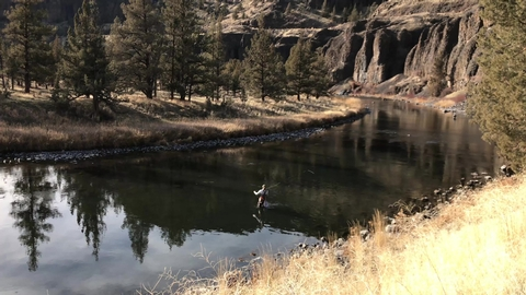 Fly-fishing on the Crooked Wild and Scenic RiverFishing along the Crooked Wild and Scenic RIver.