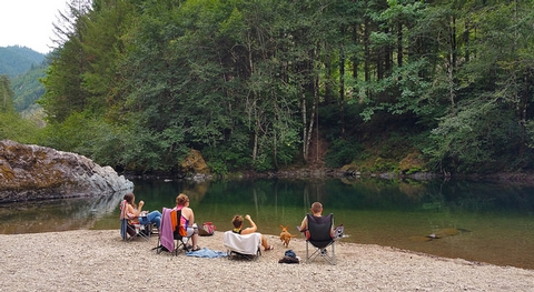 Relaxing on the Quartzville Creek Wild and Scenic River