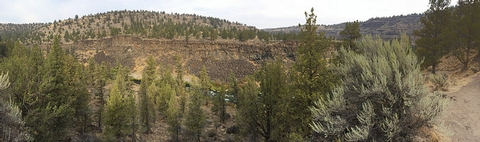 Middle Deschutes Wild and Scenic RiverView from Steelhead Falls trail