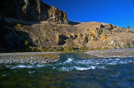 John Day Wild and Scenic RiverView of Side Channel on the John Day River