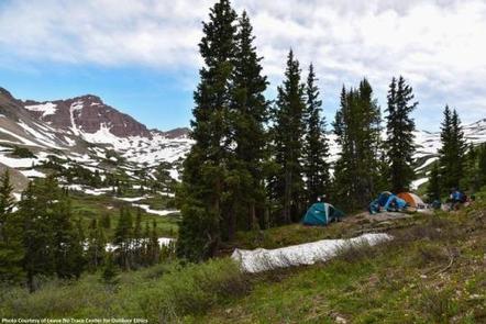 Conundrum Hot Springs - Maroon Bells-Snowmass WildernessCampsite #10, Conundrum Hot Springs, Maroon Bells-Snowmass Wilderness