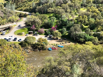 Merced River RMABirds-eye view of Briceburg Put-in & Day Use Area.