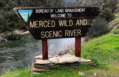 Merced River RMABLM Welcome Sign