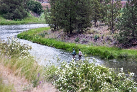 Chimney Rock CampgroundFly-fishing on the Crooked Wild and Scenic RIver