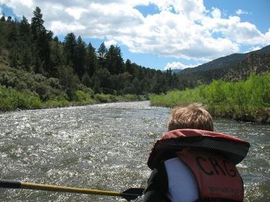 Colorado river near state bridge